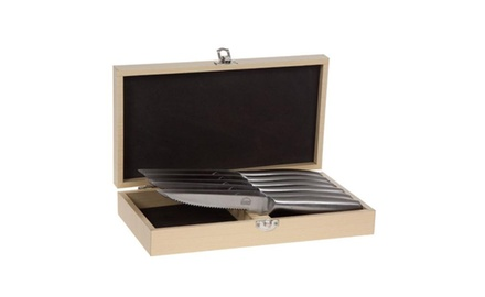 6-Piece: Stainless Steel Kitchen Steak Knife Set