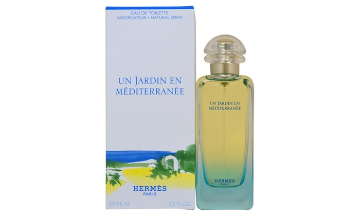 hermes un jardin en mediterranee unisex 3 3 oz edt spray groupon. Black Bedroom Furniture Sets. Home Design Ideas