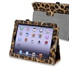 Insten Leather Case Stand For iPad 3 4, Black Yellow Leopard