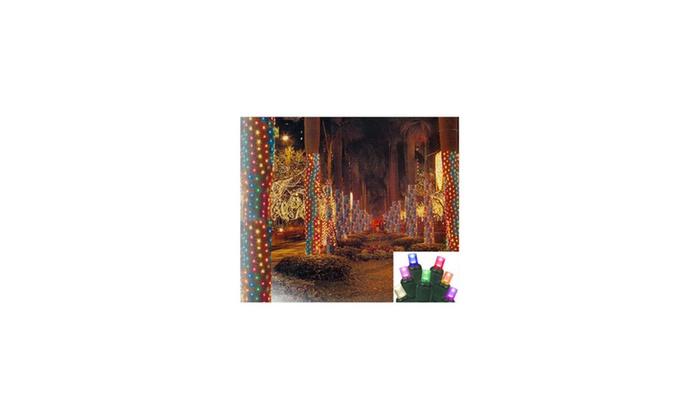 2 39 x8 39 multi led xmas net style tree trunk wrap lights. Black Bedroom Furniture Sets. Home Design Ideas