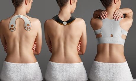 1 corrector de espalda y/o 1 o 2 estimuladores cervicales y de glúteos Ícarus