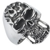 Stainless Steel Skull Ring with flaming head SSR49