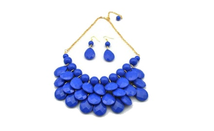 Royal Blue Bib Necklace