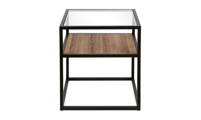 Remarkable Addison Side Table In Blackened Bronze And Oak Groupon Download Free Architecture Designs Jebrpmadebymaigaardcom