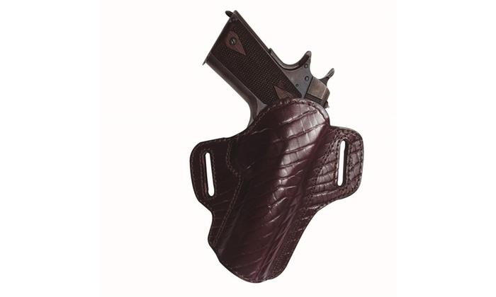 Tagua Premium Open Top Belt Holster Glock 26 - Burgundy