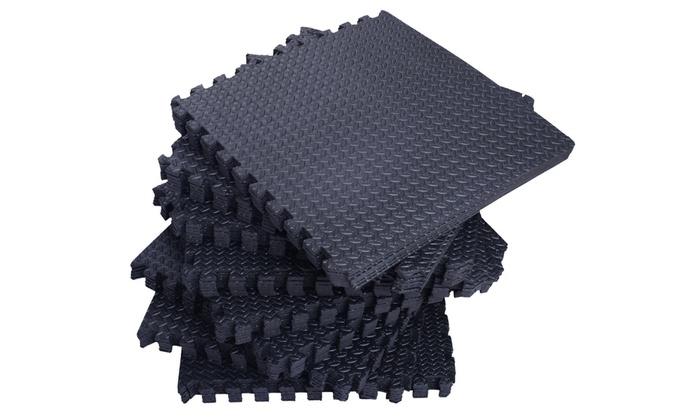 216 sqft white interlocking foam floor puzzle tile mat child gym flooring safety