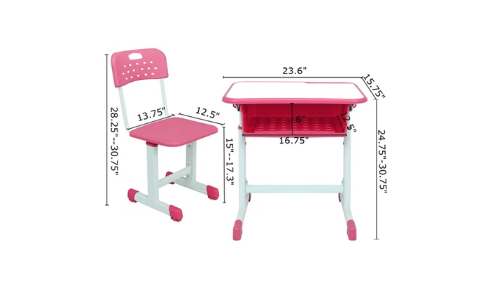 Pleasing Up To 47 Off On Adjustable Height Student Des Groupon Cjindustries Chair Design For Home Cjindustriesco
