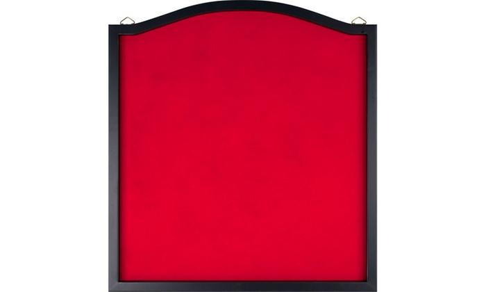 Dart Backboard with Solid Wood Frame & Red felt