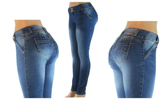 Butt Lift Skinny Jeans Colombian Design Levanta Cola