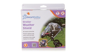 Stroller Weather Shield - Black Piping