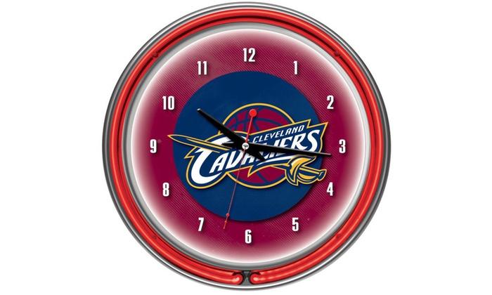 Cleveland Cavaliers NBA Neon Clock