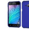 Insten Hard Rubber Case For Samsung Galaxy J1 Blue