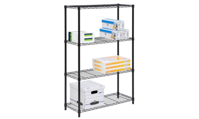 Shelf Unit 4tier Blk