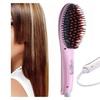 Stylish LCD Brush Comb Electric Hair Straightener Pro Auto