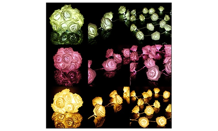 20LED Rose Flower Wedding Garden Christmas Decoration String Lights