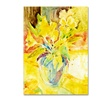 Sheila Golden Vase with Yellow Flowers Canvas Print