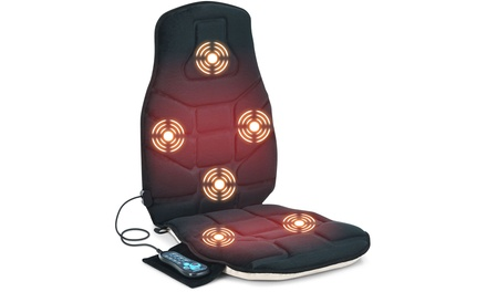 Massage Seat Cushion Back Massager w/ Heat & 6 Vibration Motors for Home