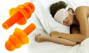 AeroFilter Silicone Sleep Comfort Ear Plugs (6 Pairs)