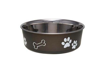 Bella Non Skid Bowl Stainless Steel Dog Puppy Designer 06190088-4d26-40a1-8933-1df269340812