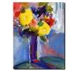 Sheila Golden 'Cobalt Vase' Canvas Rolled Art