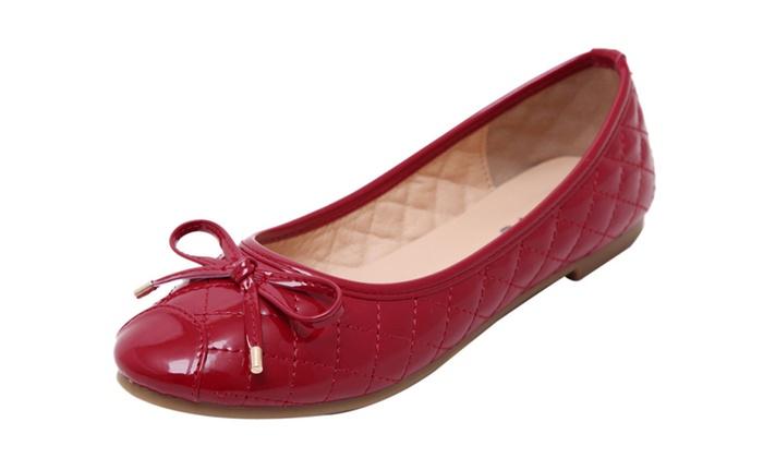 Women's Stich Foldable Ballet Flat Shoes