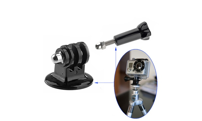 Tripod Mount + Adapter + Screw kits for GoPro Hero 4,Session, 3+,2,1