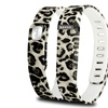Zodaca Small Band for Fitbit Activity Tracker  w/ Clasp Brown Leopard