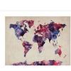Michael Tompsett 'Watercolor Map' Canvas Rolled Art