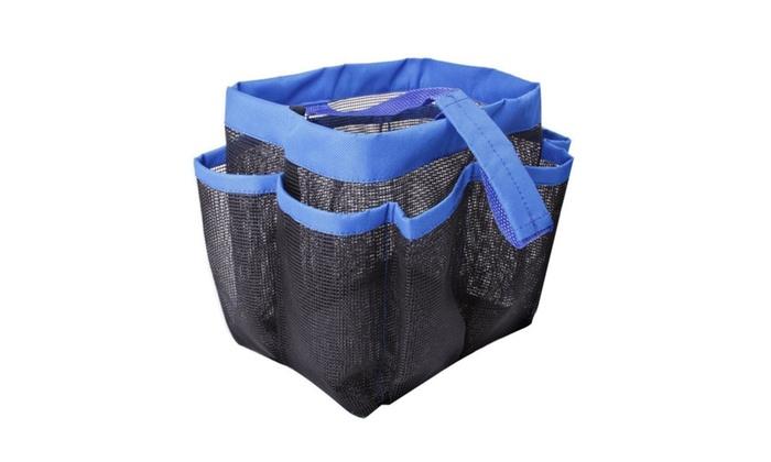Shower Caddy Travel Size Mesh Organizer - 8 Pocket   Groupon