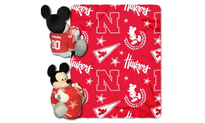 COB 038 Nebraska Mickey Hugger with Throw