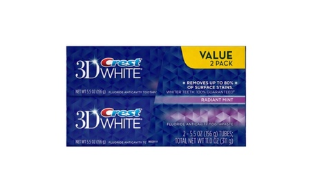 Crest 3D White Radiant Mint Flavor Whitening Toothpaste, 5.5 oz, 2 ct. dac7914f-60b1-42c1-88d3-a4a828cd20ac