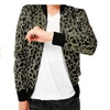 Men Fashion Zip Up Leopard Print Varsity Letterman Jacket