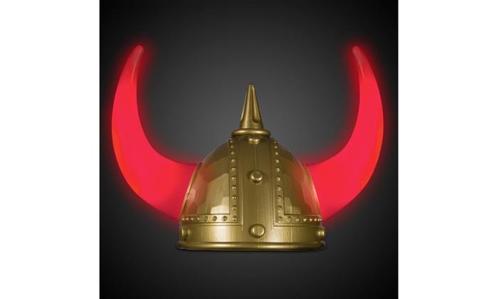 ... LED Light Up Plastic Viking Helmet with Horns Costume Hat ... 07da69b6b