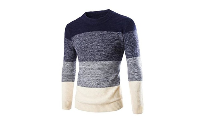 Chantye New Arrival Men's Slim Fit Knitted Pullover Sweaters