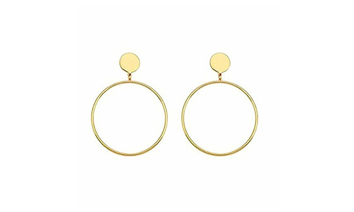Women Hoop Earring Gold For Womens Sensitive Ears
