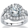 3.49 TCW CZ Ring in Platinum over Sterling Silver