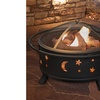 Pure Garden 30 inch Round Star and Moon Fire Pit with Cover