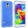 Insten Blue Silicone Gel TPU Skin Case Cover For Samsung Galaxy S5 S V