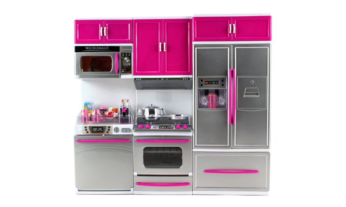 my modern kitchen dishwasher stove refrigerator doll kitchen playset - Kitchen Playset