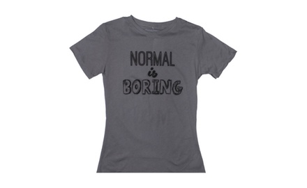 Normal Is Boring Charcoal T-shirt