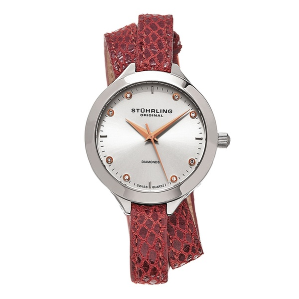 1fb121558 Stuhrling Original Women's Swiss Diamond Vogue Wrap Around Watch ...