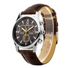 Zodaca Brown Divers Print Dial Leather Strap Band Wrist Watch