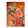 Sheila Golden Copper Vase 3 Canvas Print