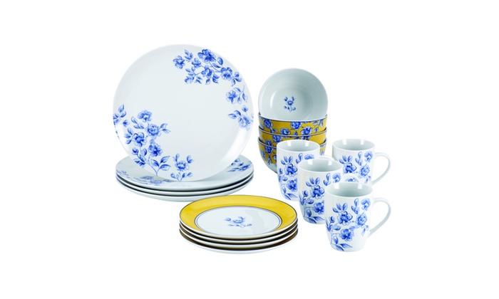 Paula Deen Dinnerware 16 Pc Porcelain Stoneware Set