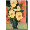 Sheila Golden Tropical Blooms Canvas Print