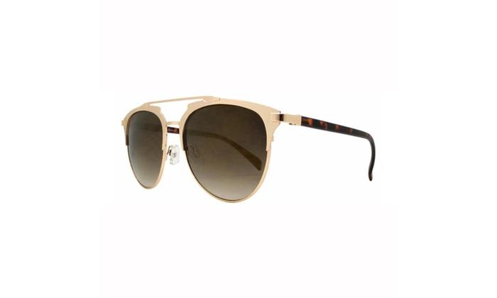 MLC Eyewear Dapper Crossbar Metal Aviator Sunglasses UV400