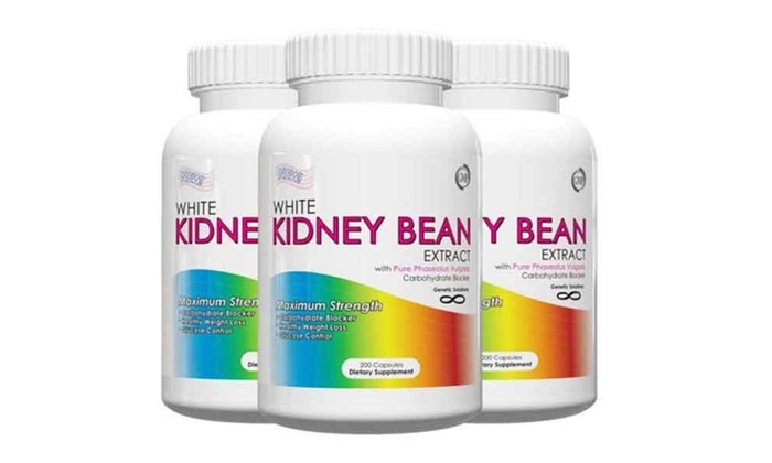 Buy It Now : 2 or 3 Bottles-White Kidney Bean Extract-200ct w/Free Waist Trimmer