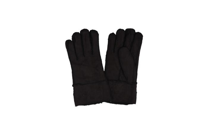Sakkas Men's Sueded Fabric Warm Winter Gloves