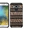 Insten Zebra Hard Hybrid Case For Samsung Galaxy E5 Black/brown