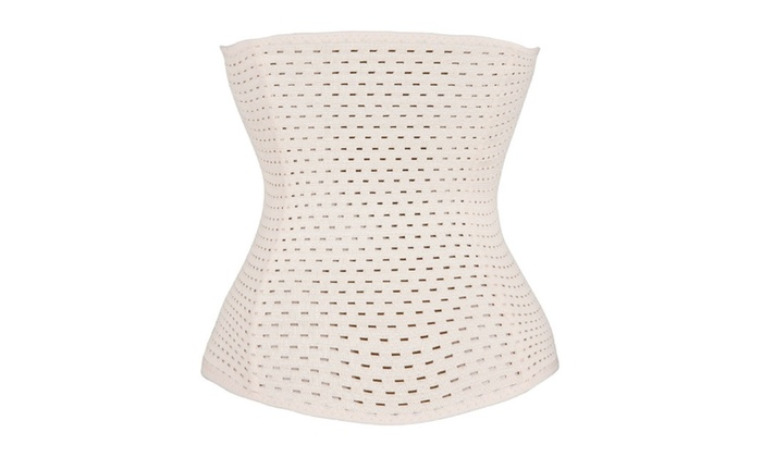 Beige Breathable Bamboo Waist Cinchers